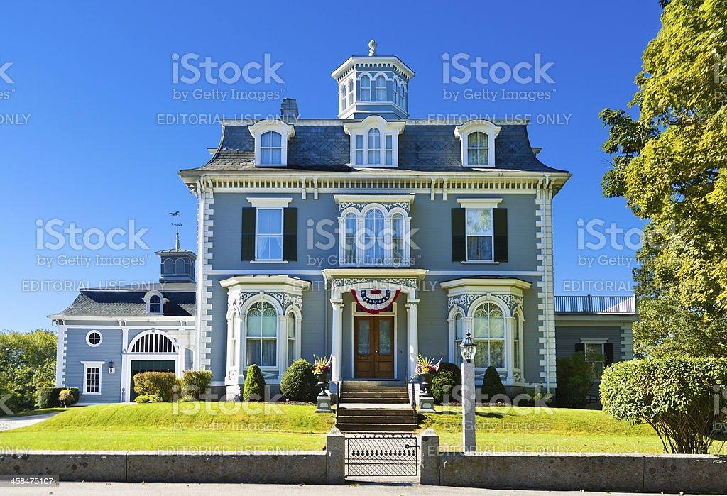 Historic New England House, Kennebunk, Maine. stock photo