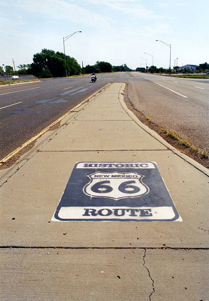 Historic New Mexico Route 66 stock photo