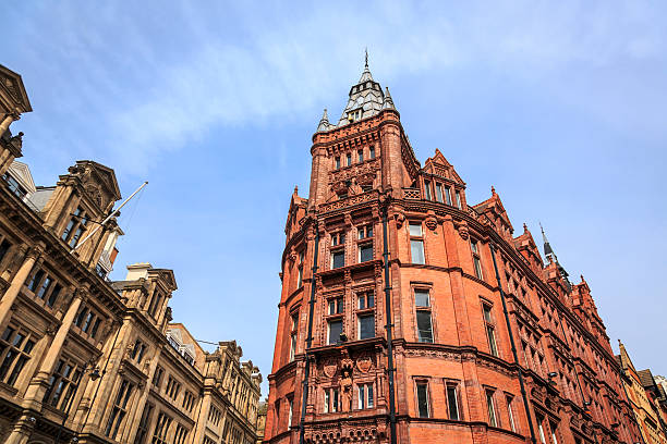 Historic Nottingham UK city centre architecture stock photo