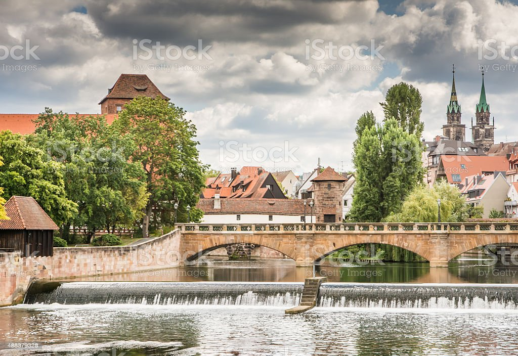 Historic Nuernberg stock photo