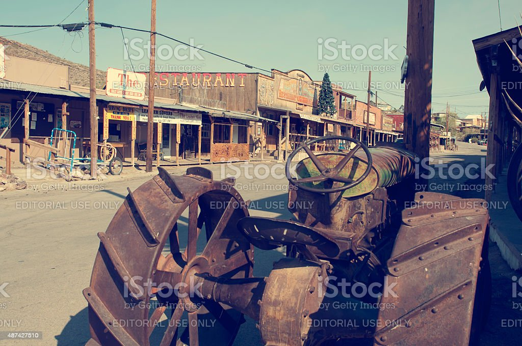 Historic Oatman Mining Camp along Route 66 stock photo