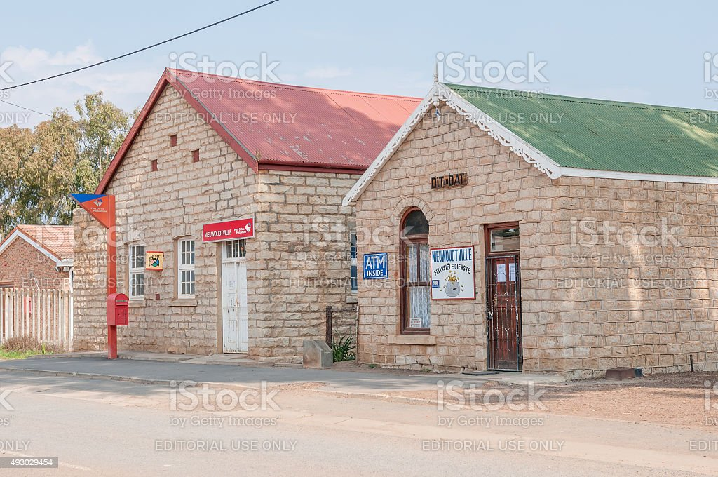 Historic old buildings in Nieuwoudtville stock photo