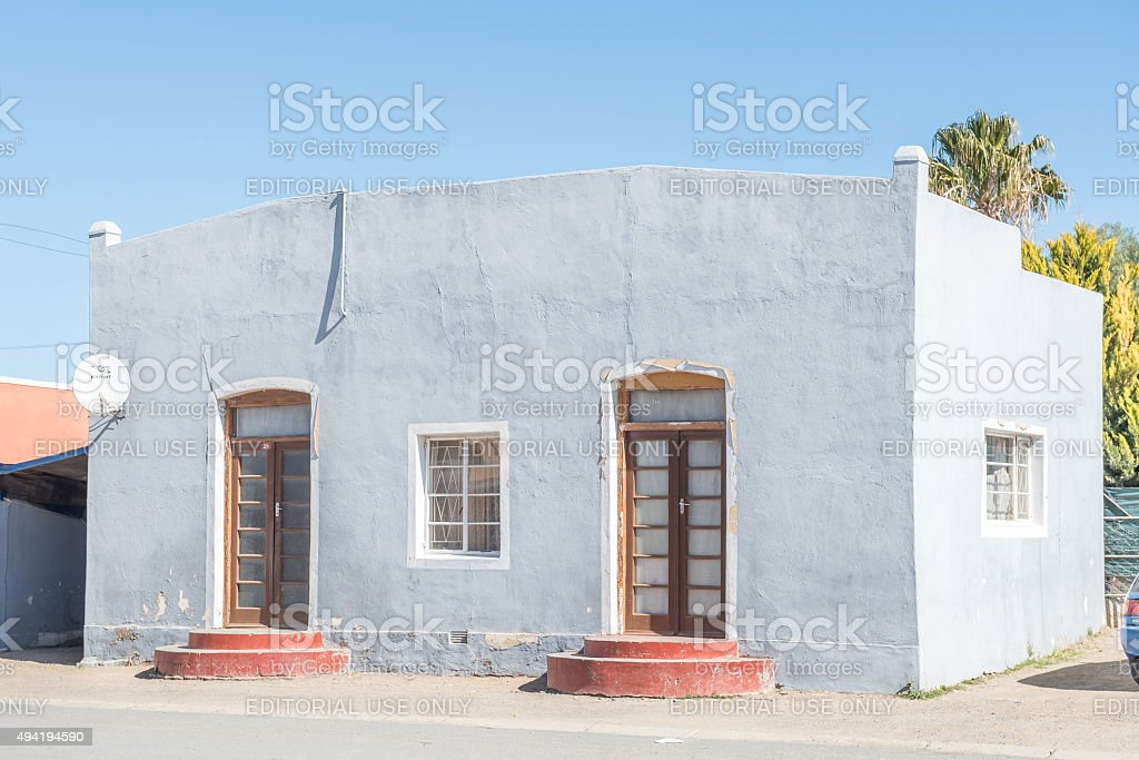 Historic old house in Carnavon stock photo