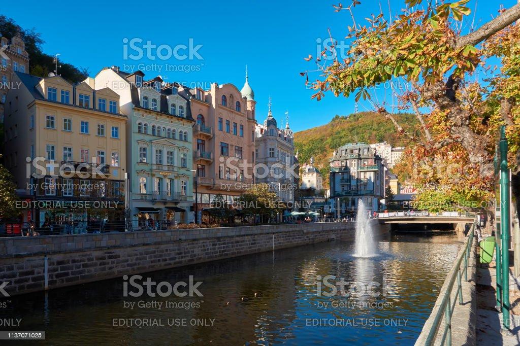 Historische Altstadt von Karlsbad in Tschechien – Foto