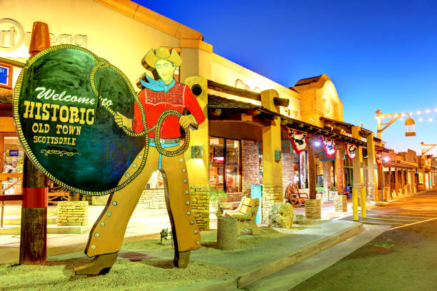 Historic Old Town Scottsdale stock photo