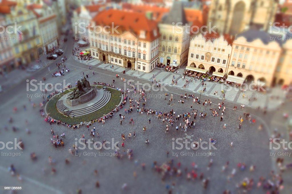 Historiska gamla stan i Prag vid solnedgången - Royaltyfri Antik Bildbanksbilder