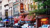 Milwaukee, Wisconsin, USA.\nHistoric Old World Third Street, one of the hubs of Milwaukee's nightlife.