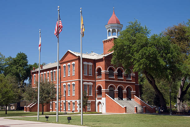 historic osceola county courthouse - kissimmee stock photos and pictures