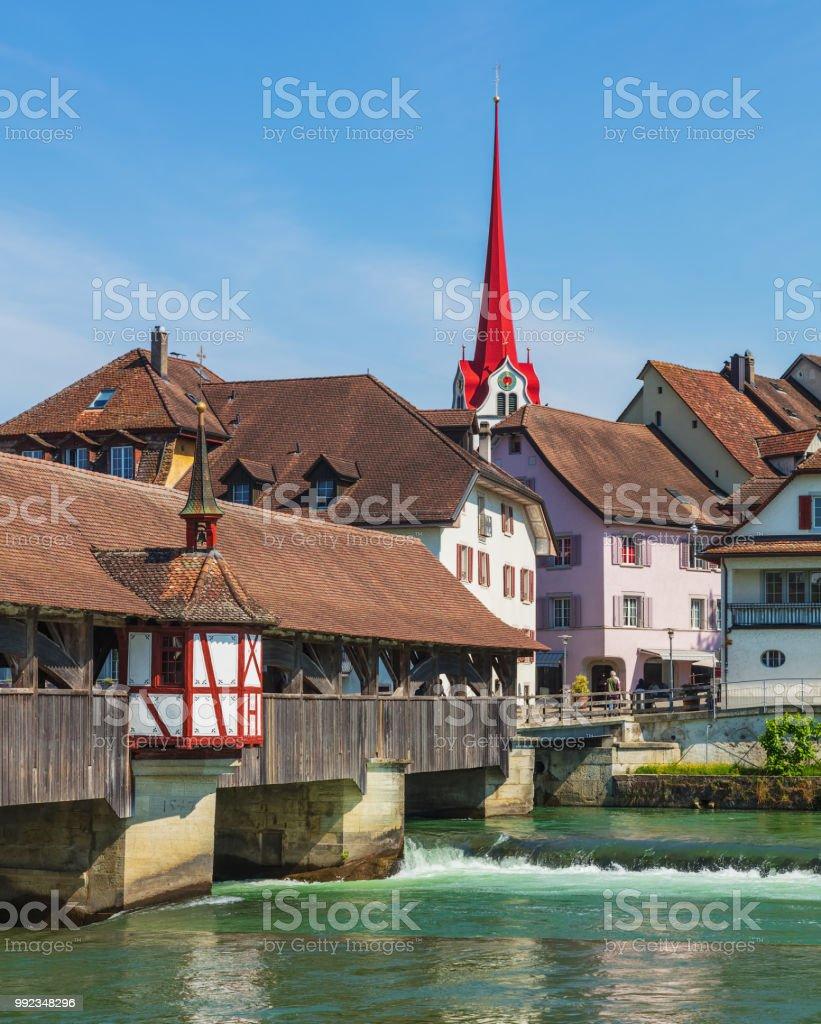 Die Altstadt von Bremgarten, Schweiz – Foto