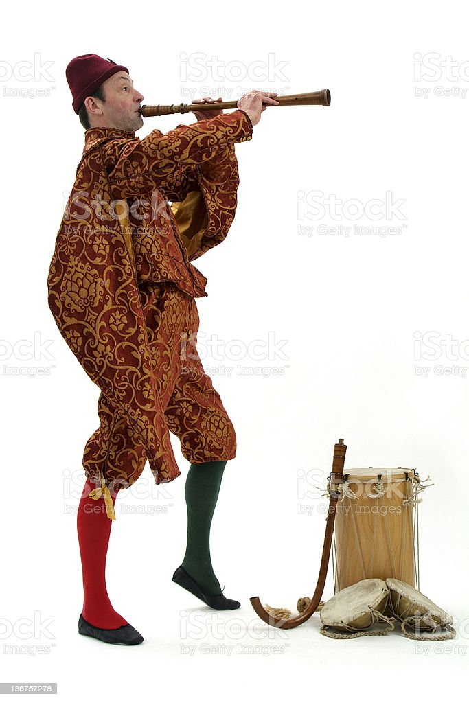 Historic Piper - Isolated stock photo