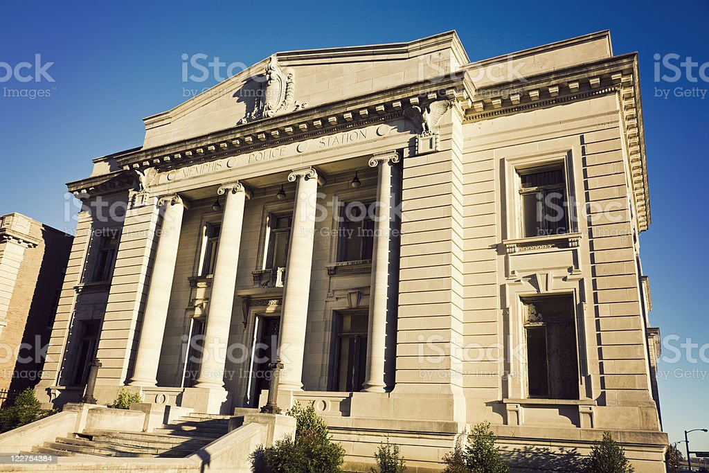 Historic Police Station in Memphis stock photo