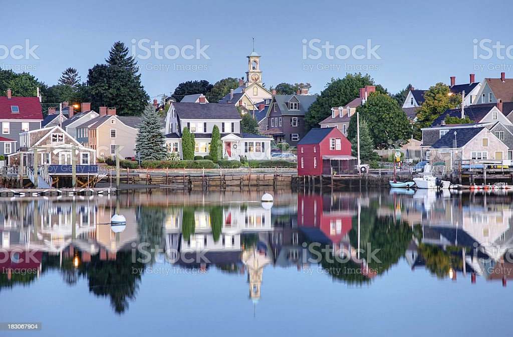 Historic Portsmouth New Hampshire stock photo