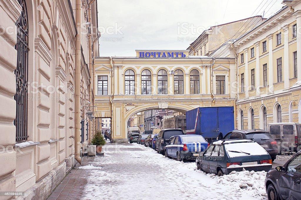 Historic post office in Saint Petersburg stock photo