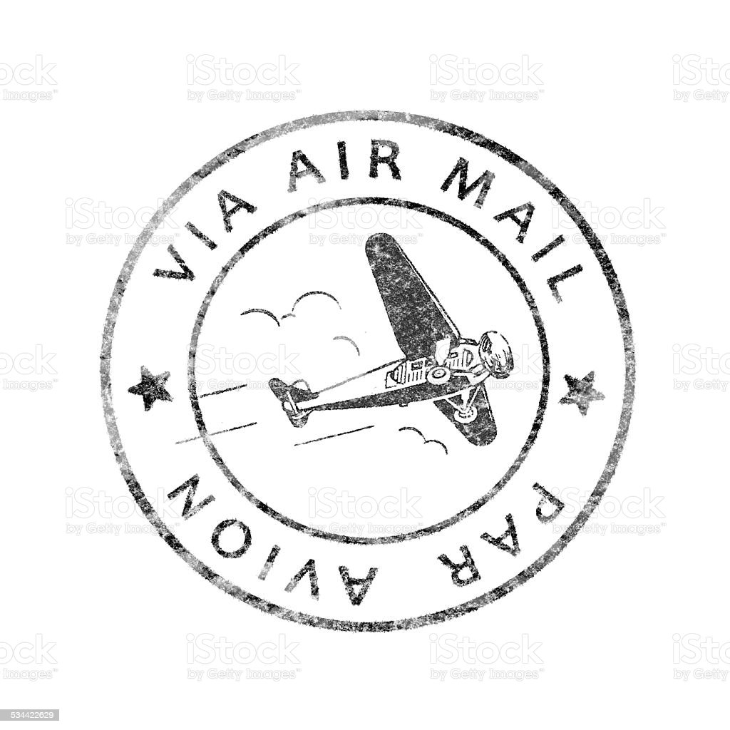 Historic Postmark Air mail stock photo