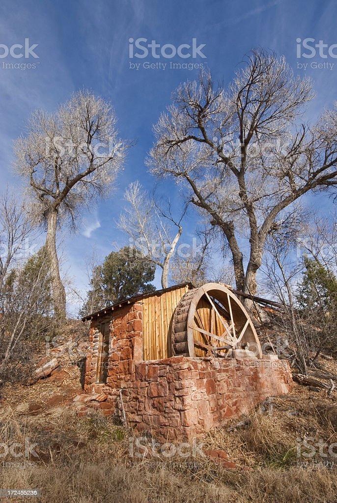 Historic Power Generating Water Wheel royalty-free stock photo