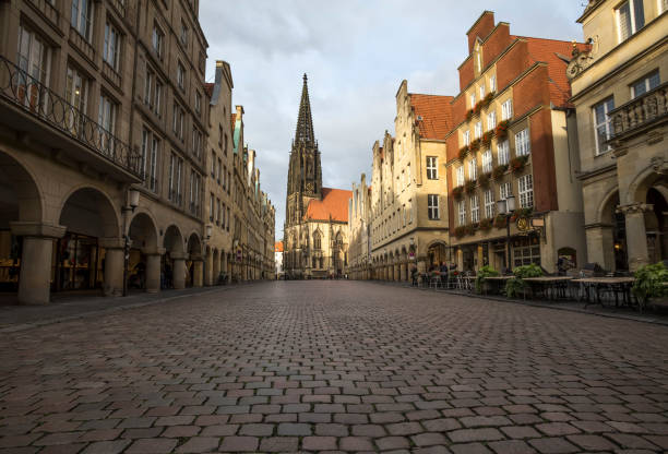 historic prinzipalmarkt in muenster germany historic prinzipalmarkt in muenster germany north rhine westphalia stock pictures, royalty-free photos & images