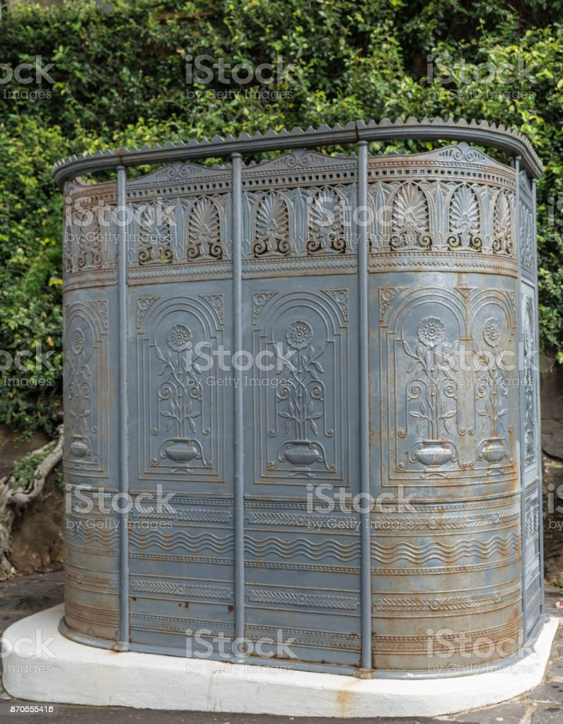 Historic public urinal for men, Sydney Australia. stock photo