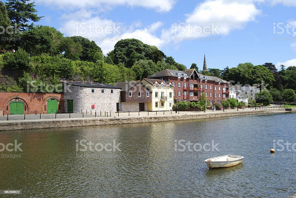 Historic Quayside at Exeter, Devon, England royalty-free stock photo