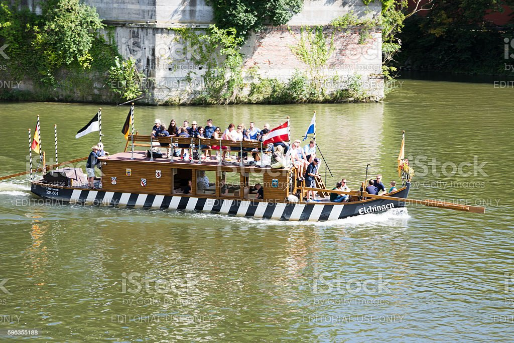 Historic raft on the Danube river royalty-free stock photo