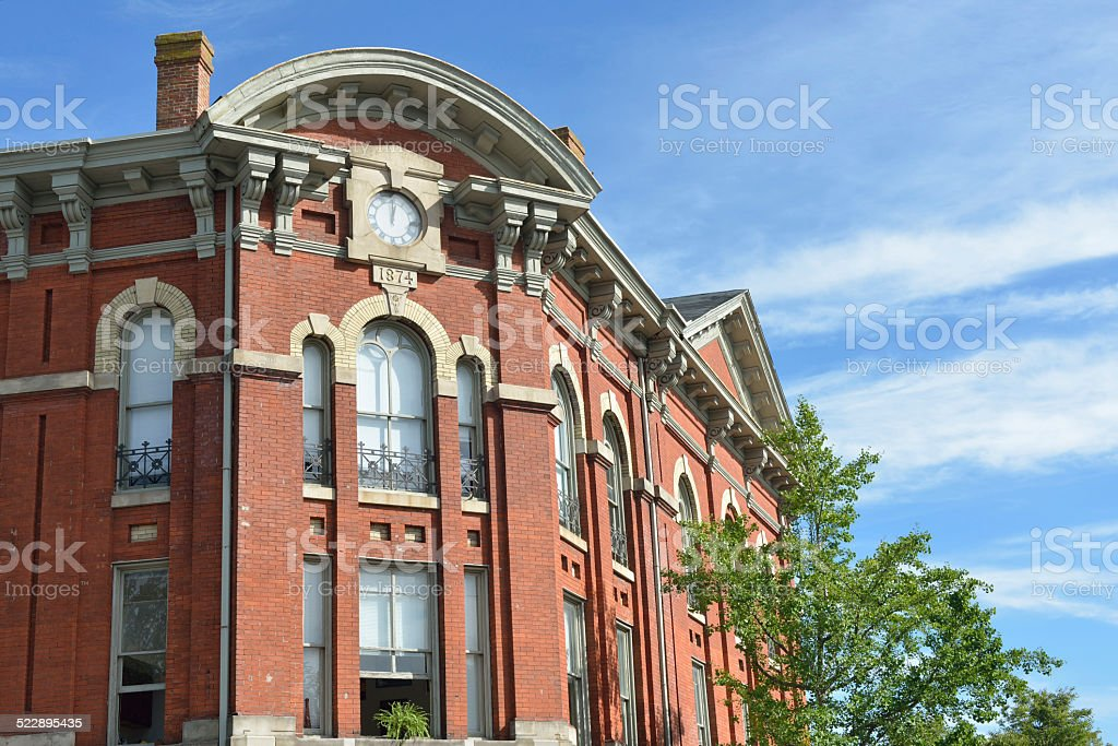 Historic Red Building in Doylestown stock photo