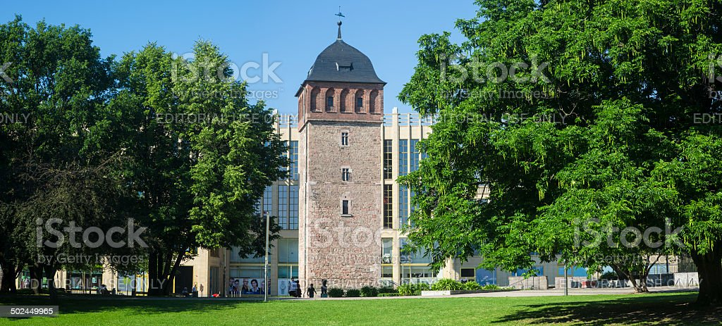 Historic Red Tower of city Chemnitz/Germany royalty-free stock photo