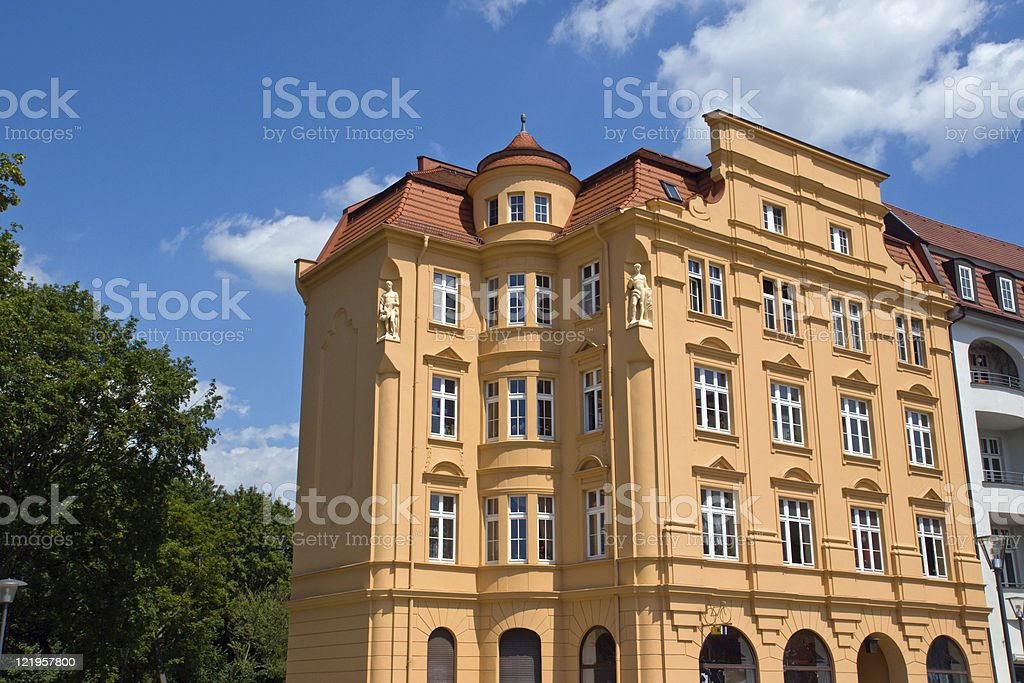 Historic redeveloped town house stock photo