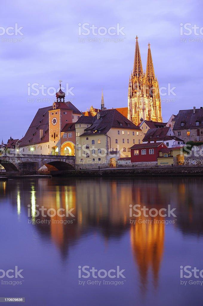 Historic Regensburg stock photo