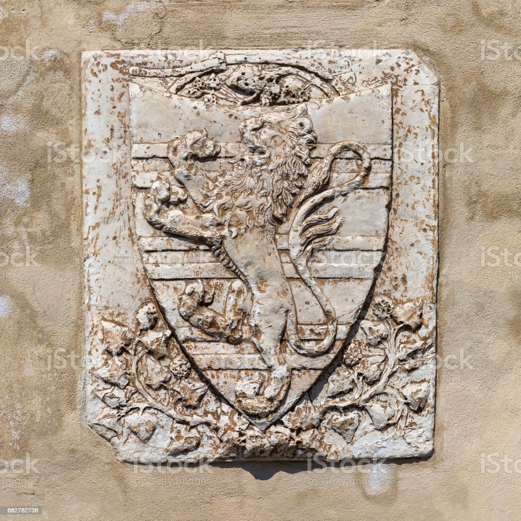 historic relief in Florence, Italy stock photo