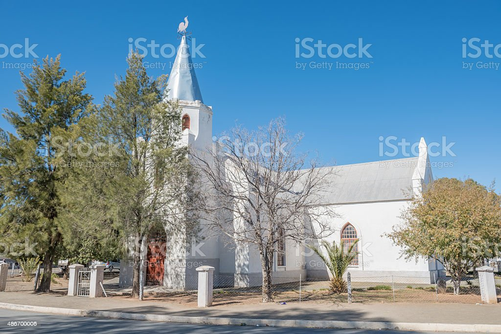 Historic Rhenish Church in Carnavon, now the United Reformed Chu stock photo