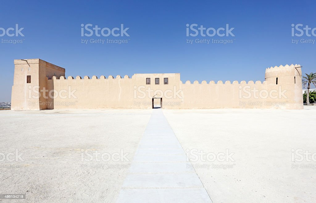 Historic Riffa fort in the Kingdom of Bahrain stock photo