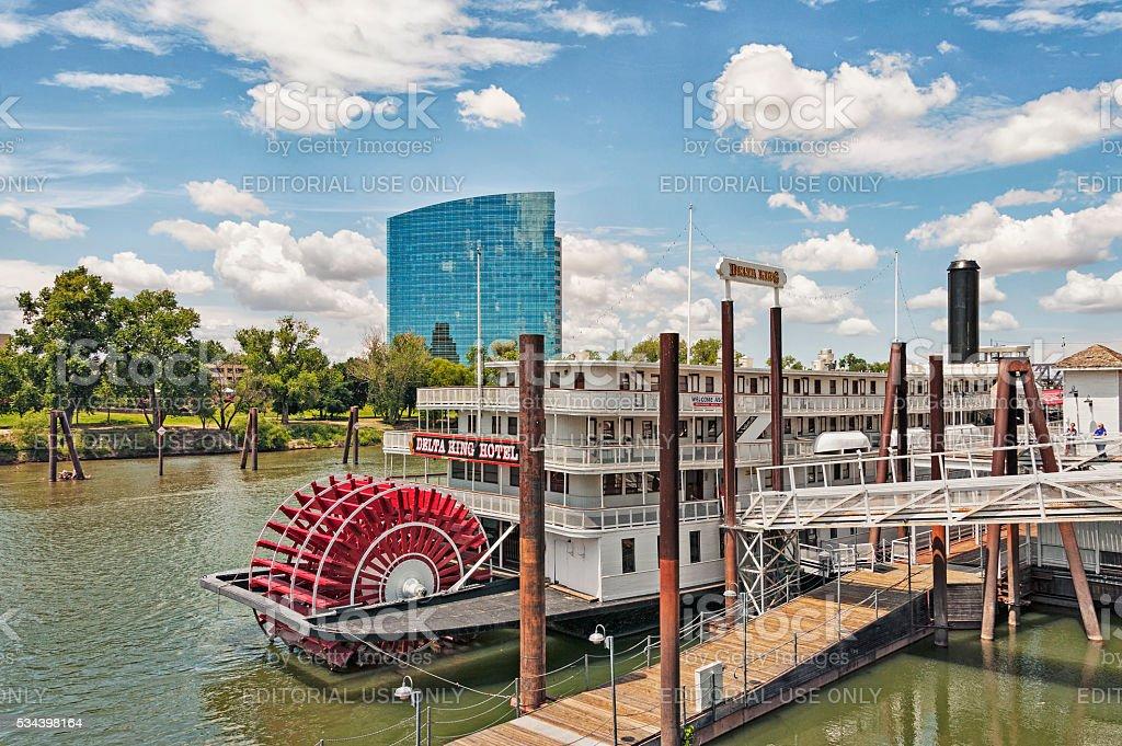 Historic Riverboat Sacramento River at Old Town stock photo