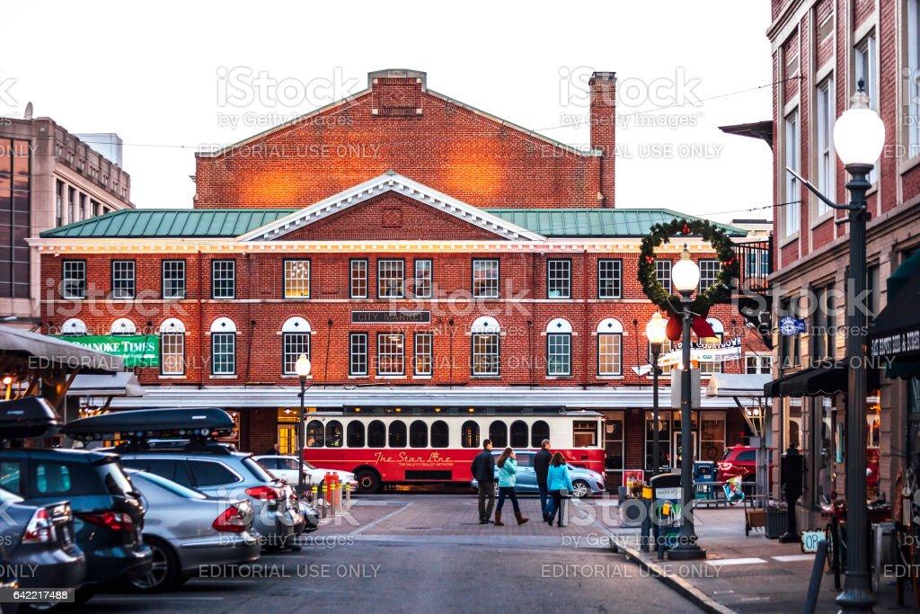 Historic Roanoke City Market. stock photo