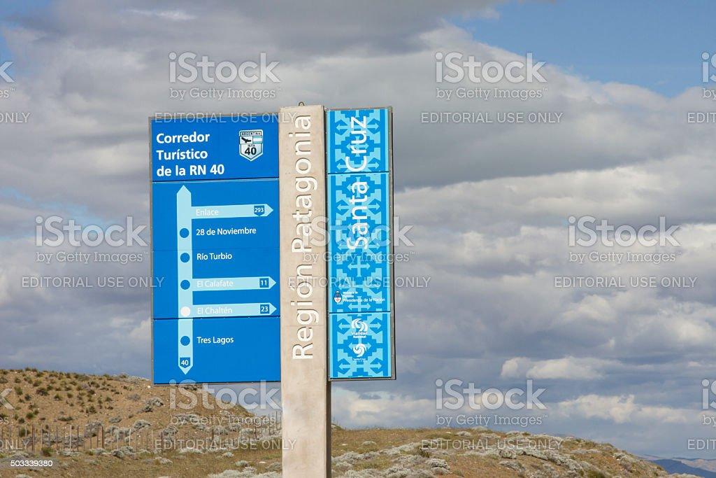 Historic Route 40, Patagonia, Argenitina stock photo