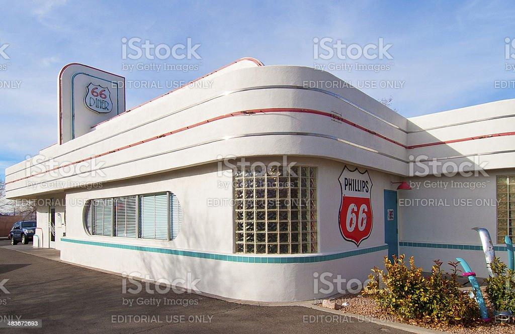 Historic Route 66 Diner in Albuquerque New mexico stock photo