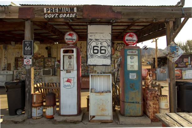 Historic Route 66 Hackberry General Store And Gas Station stock photo
