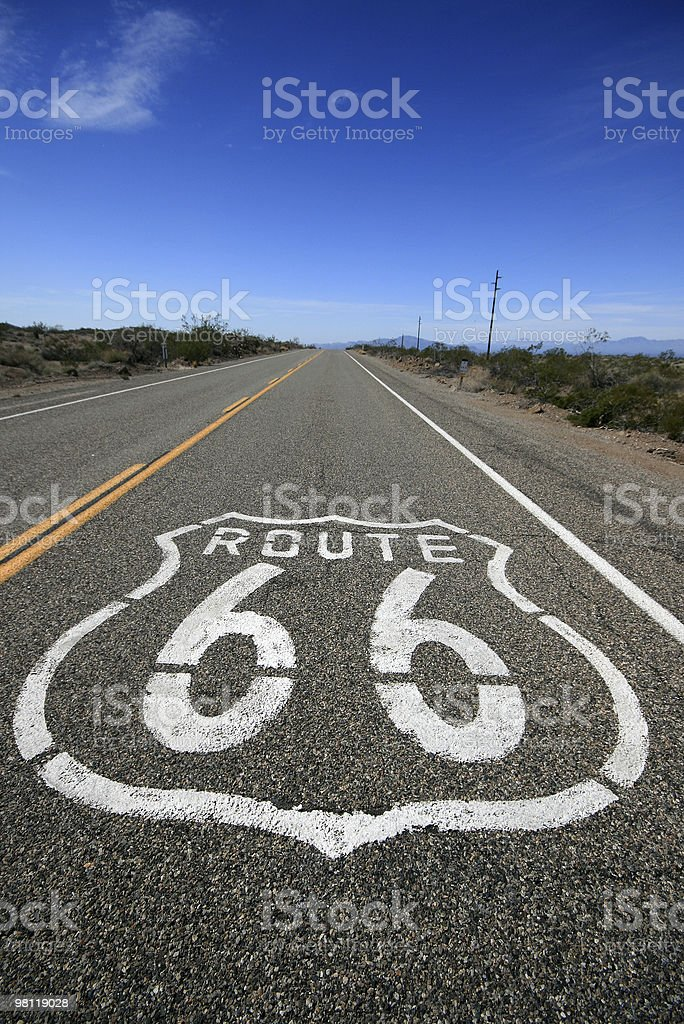 Historic Route 66 royalty-free stock photo