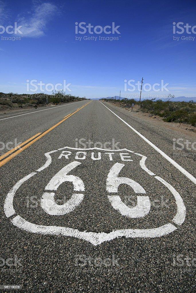 La storica Route 66 foto stock royalty-free