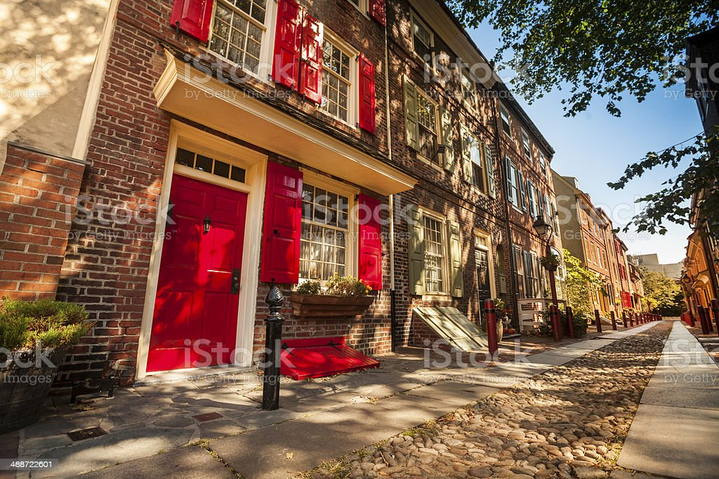Historic row houses Philadelphia stock photo