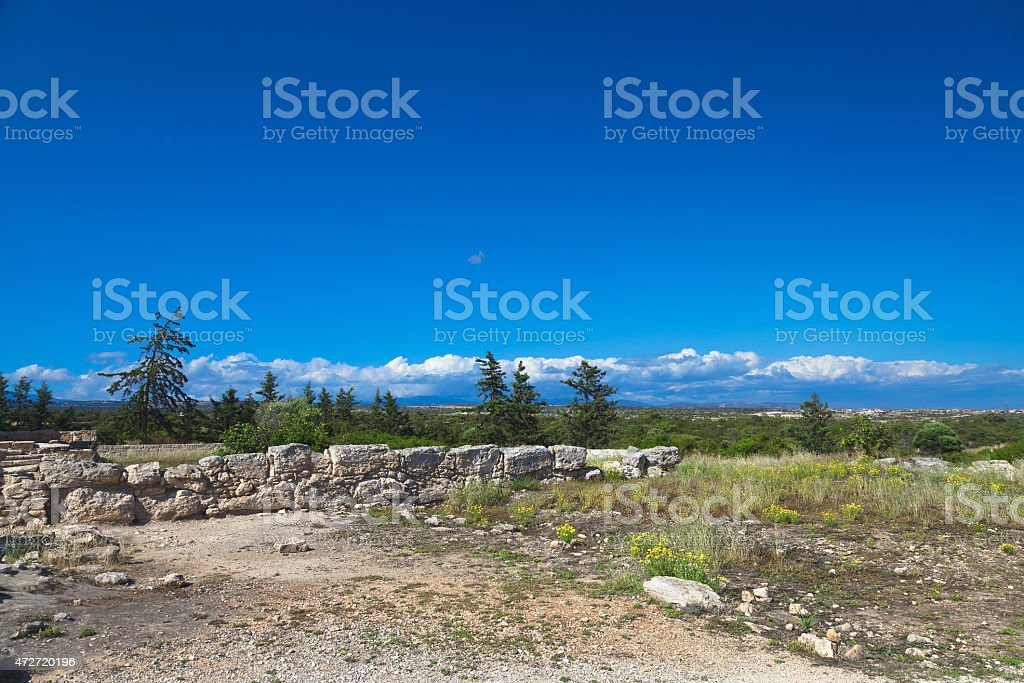 Historic ruins in Cyprus stock photo