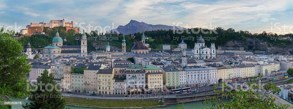 Historic Salzburg Panorama royalty-free stock photo