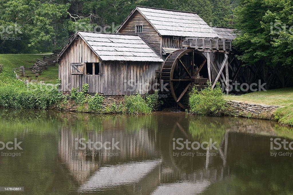 Historic Sawmill on Blue Ridge Parkway royalty-free stock photo