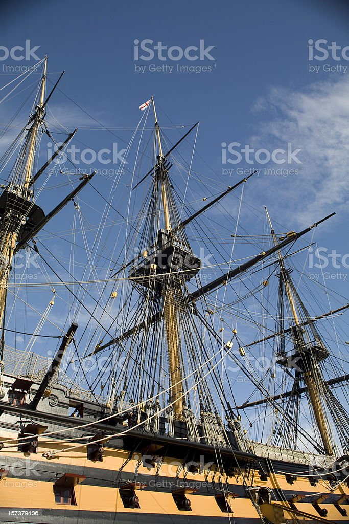 historic ship stock photo