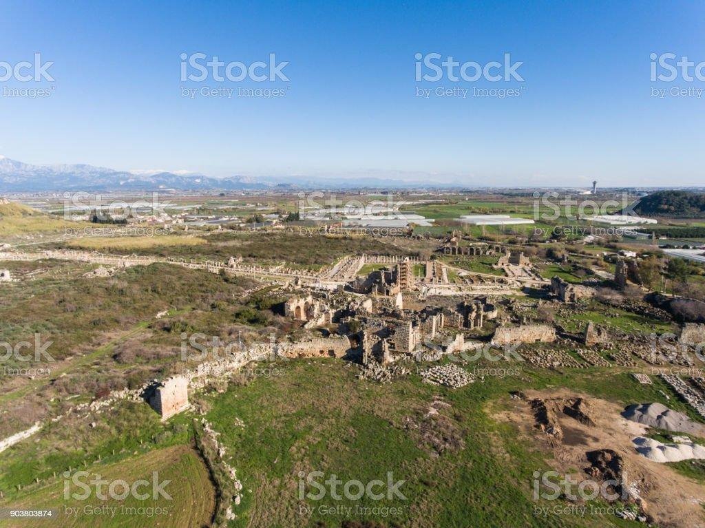 Historic Site of Ancient Mediterranean Civilization in Turkey stock photo