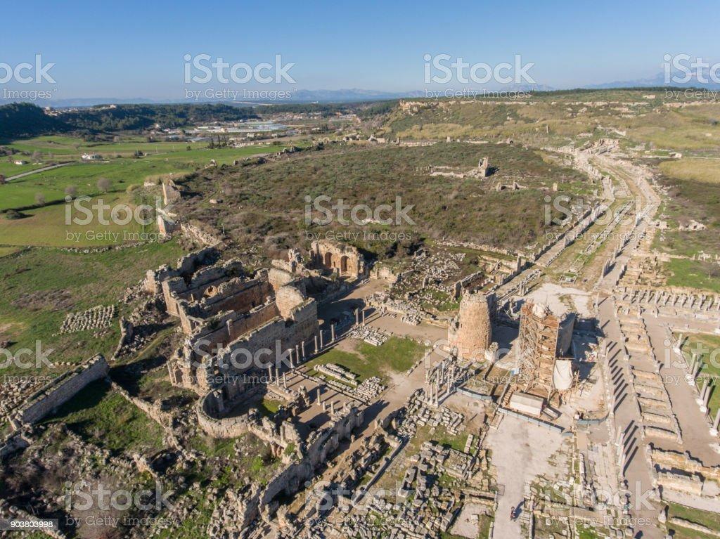 Historic Site of Ancient Mediterranean Culture in Anatolia stock photo