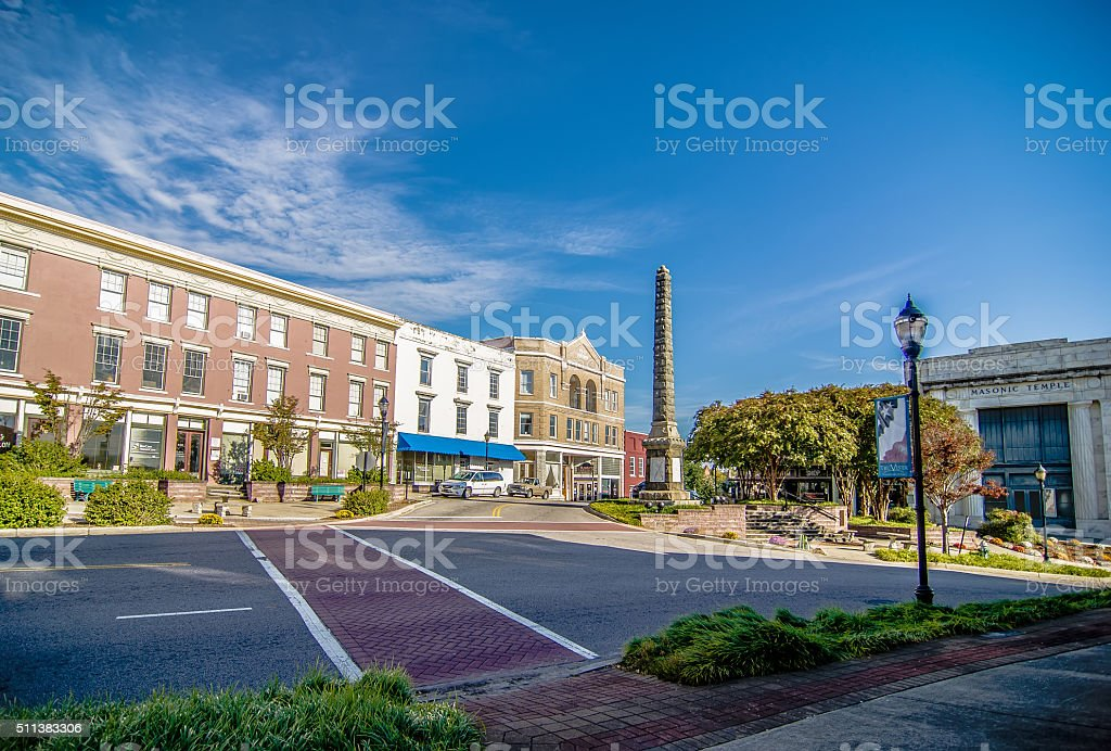 historic southern city of chester south carolina stock photo