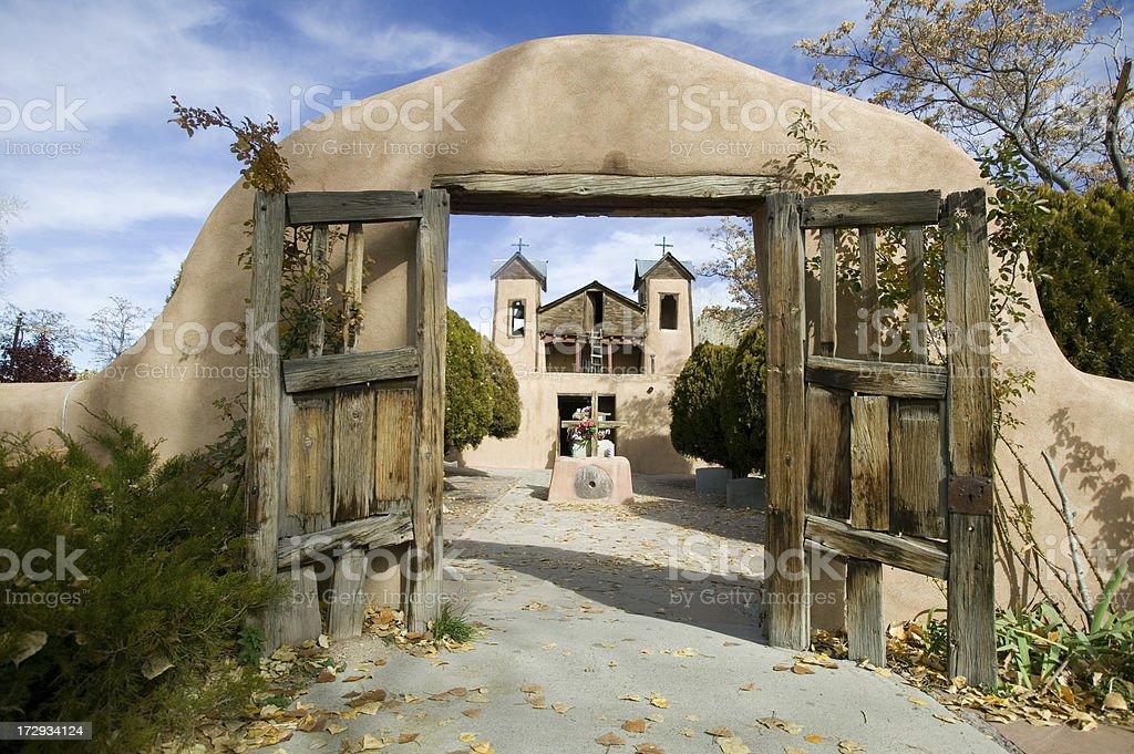Historic Spanish Church New Mexico royalty-free stock photo