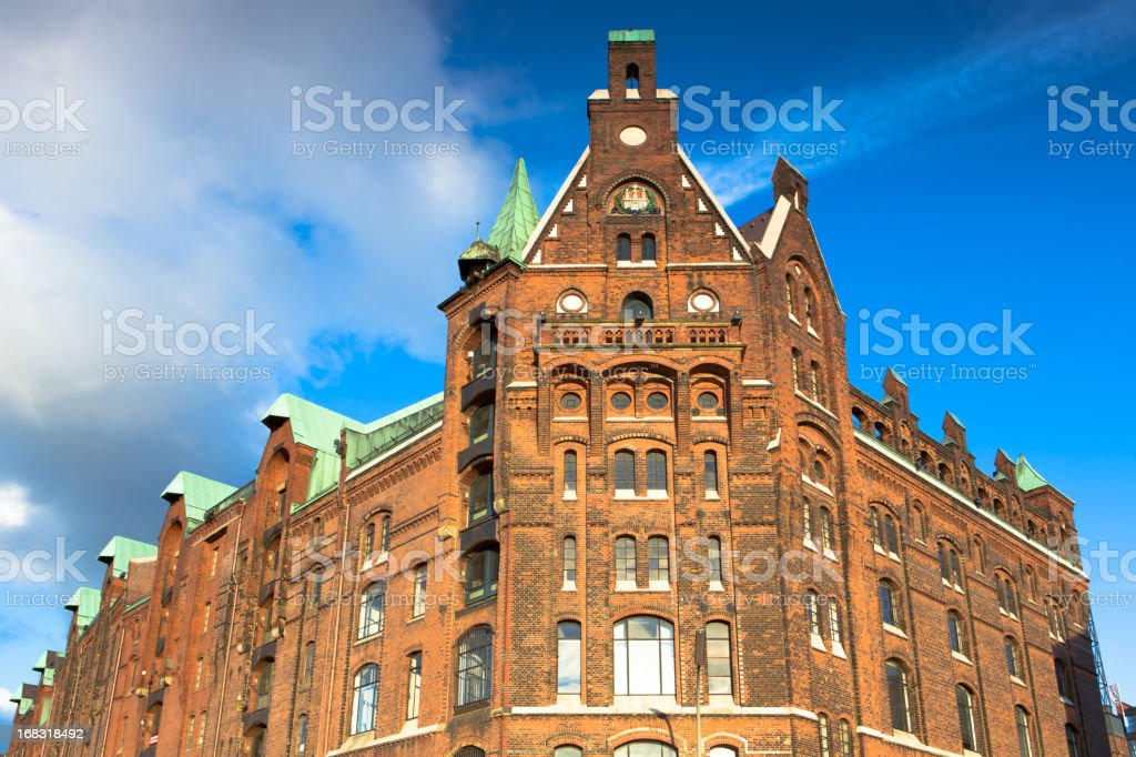 Historic Speicherstadt Hamburg stock photo