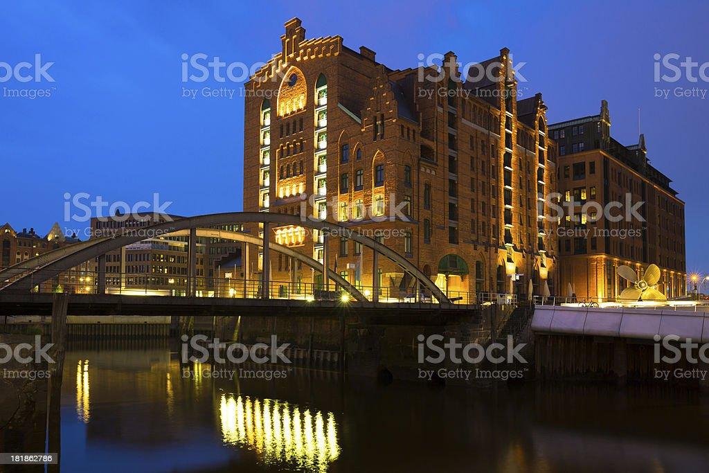 Historic Speicherstadt royalty-free stock photo