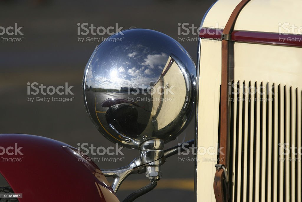 Historic sports car detail royalty-free stock photo