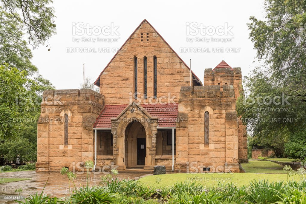 Historic St. James Anglican Church in Greytown stock photo